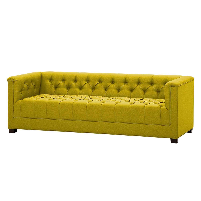 Sofa Grand (3-Sitzer) - Webstoff - Stoff Milan Gelb, Jack and Alice