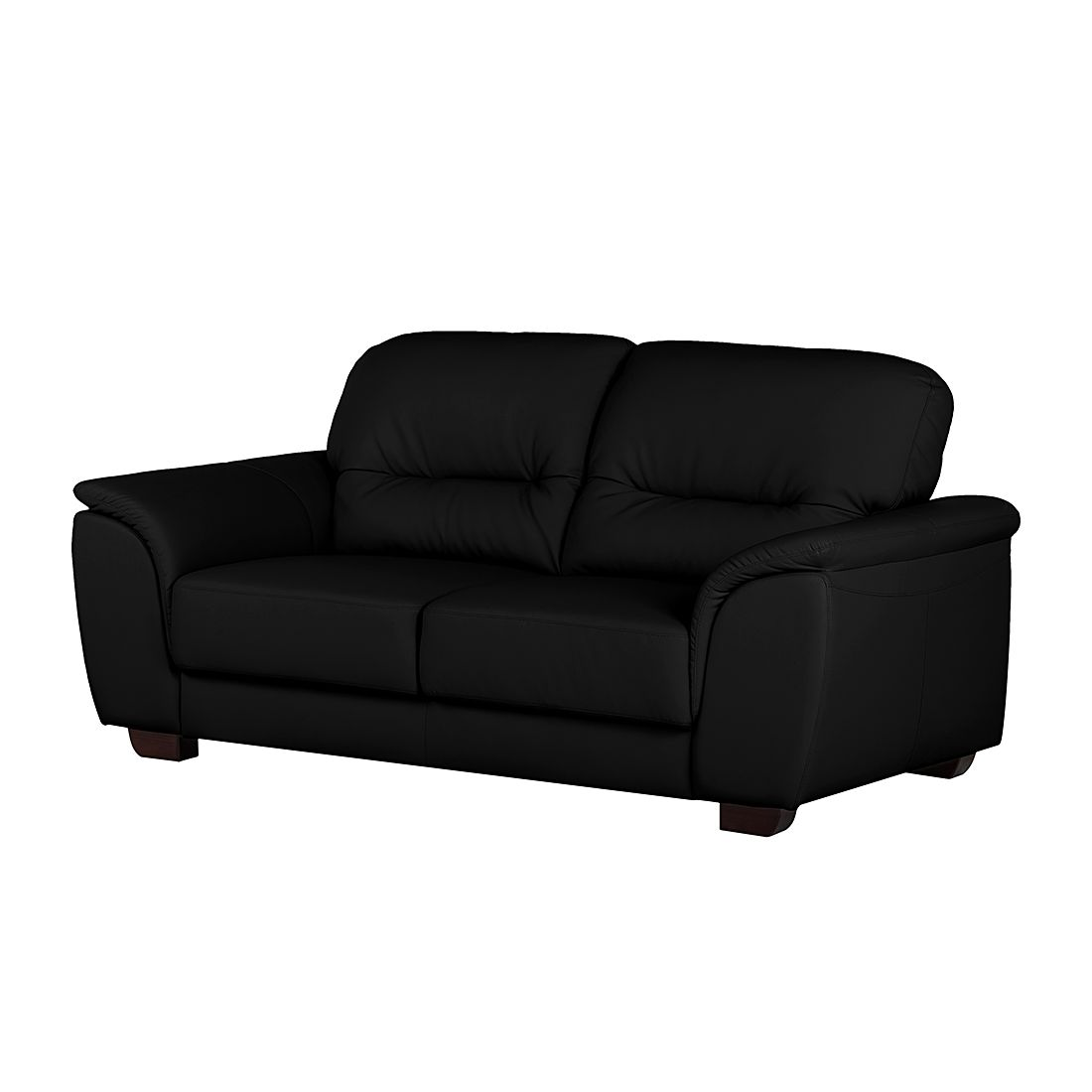 sofa rimini 3 sitzer kunstleder schwarz nuovoform online kaufen. Black Bedroom Furniture Sets. Home Design Ideas