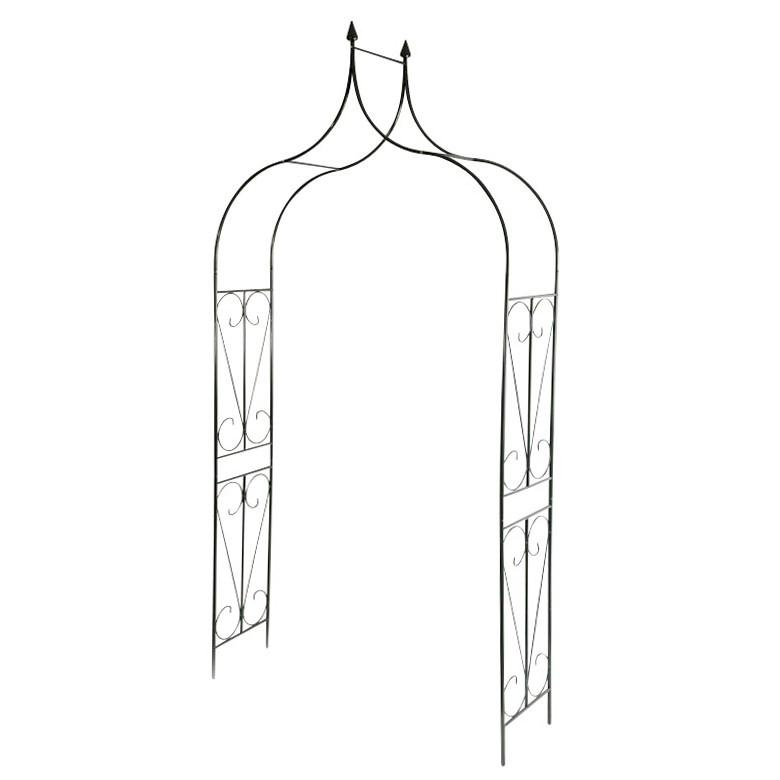 rosenbogen aus eisen mit tuer g nstig kaufen. Black Bedroom Furniture Sets. Home Design Ideas
