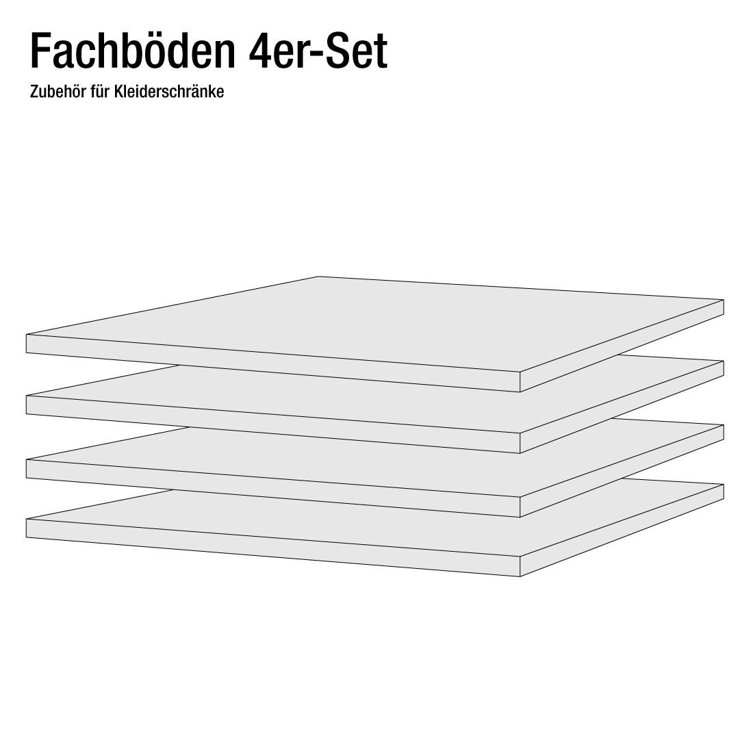 45er Fachboden (4er-Set) - Schranktiefe 60/69 cm