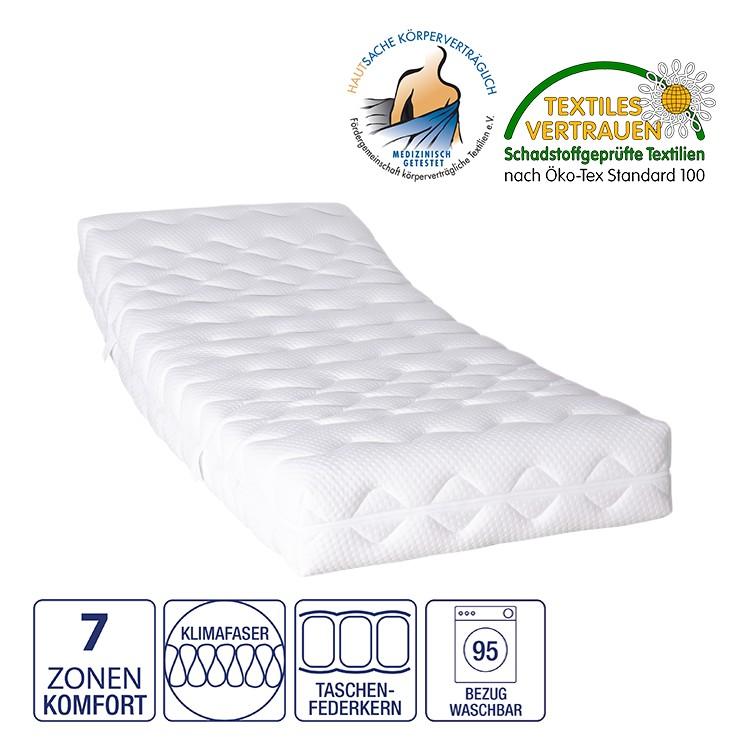 5-Zonen Federkernmatratze Nova Dream Wash T  – 140 x 200cm – H2 bis 80 kg, Nova Dream Sleepline günstig online kaufen