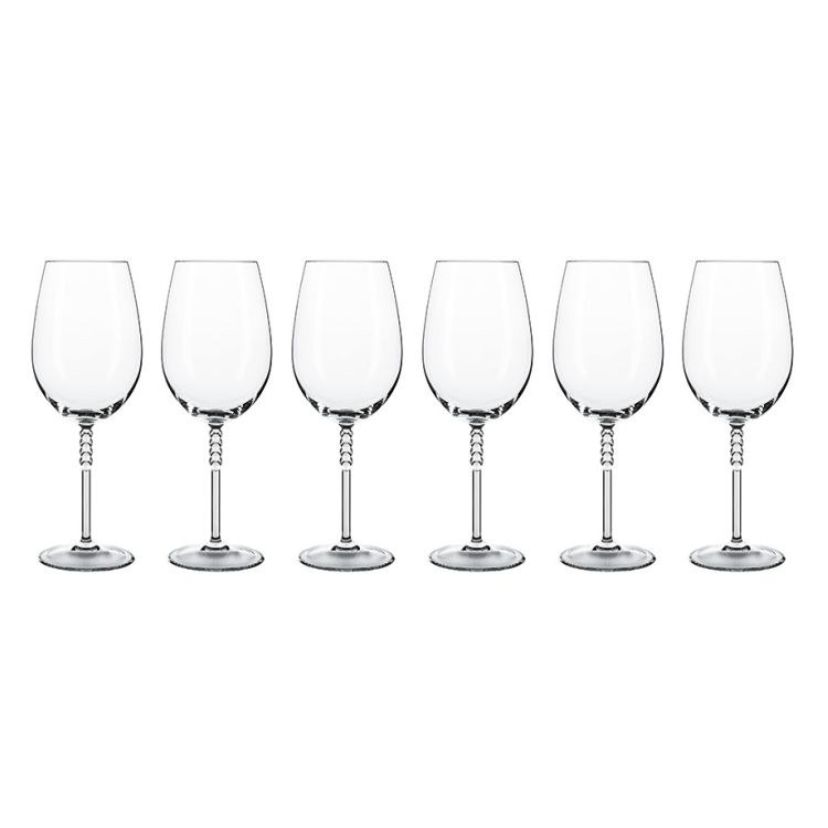 6er-Set Bordeauxglas Pearls – Glas Transparent, Nachtmann günstig