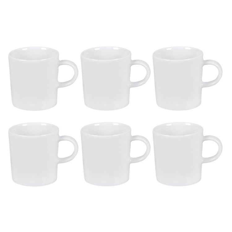 6er-Set Cafe-au-lait-Tasse Cucina – Porzellan Weiß, Springlane günstig online kaufen