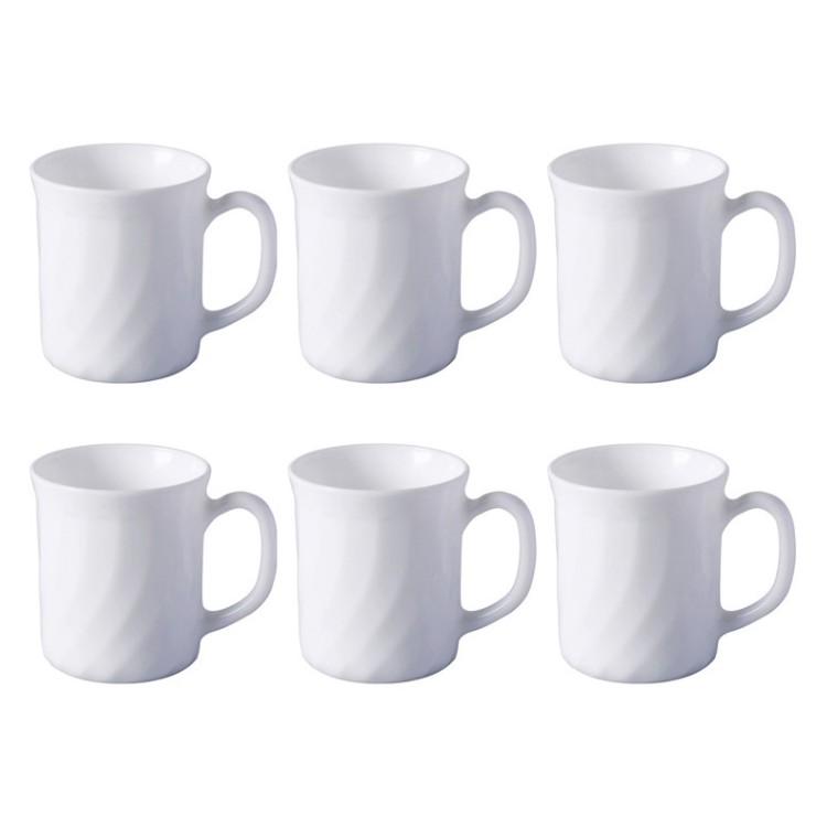 6er-Set Kaffeebecher Trianon – Glas Weiß, Luminarc günstig kaufen