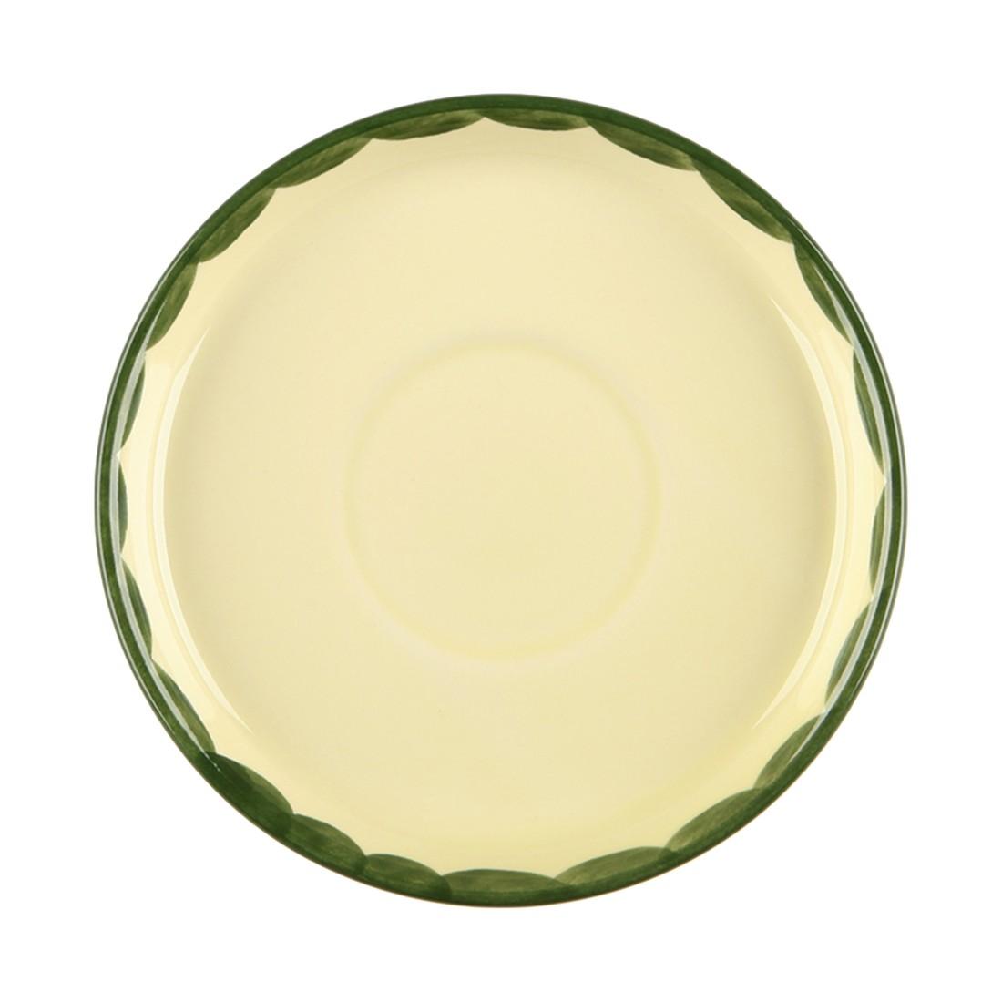 6er-Set Kaffeeuntertasse Hahn und Henne – Keramik Creme, Zeller Keramik online bestellen