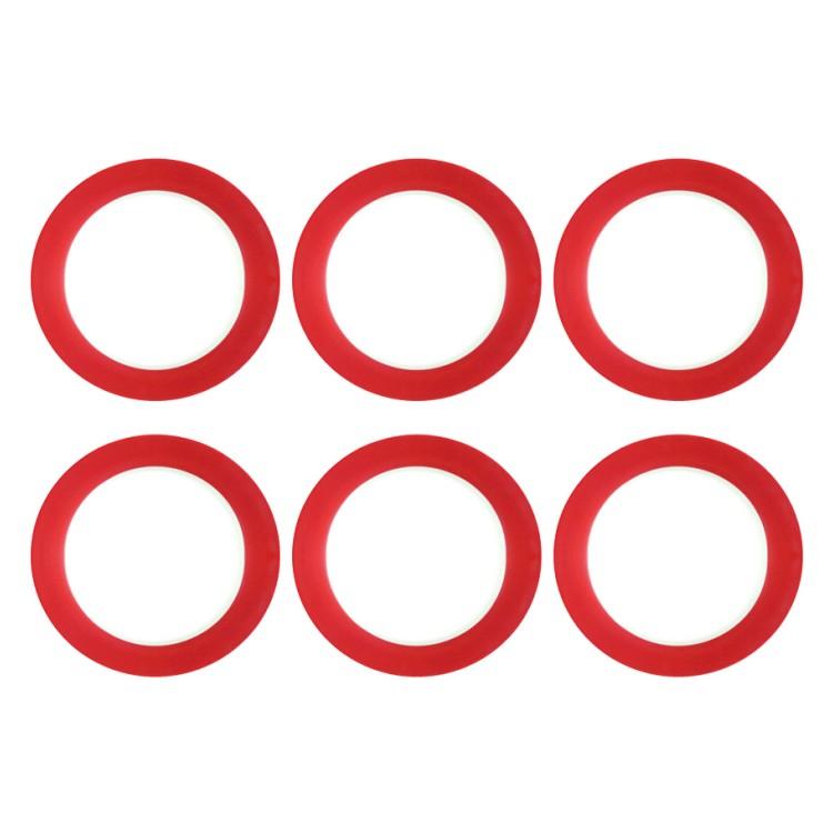 6er-Set Speiseteller Doppio 27 cm – Porzellan Rot, flirt jetzt kaufen