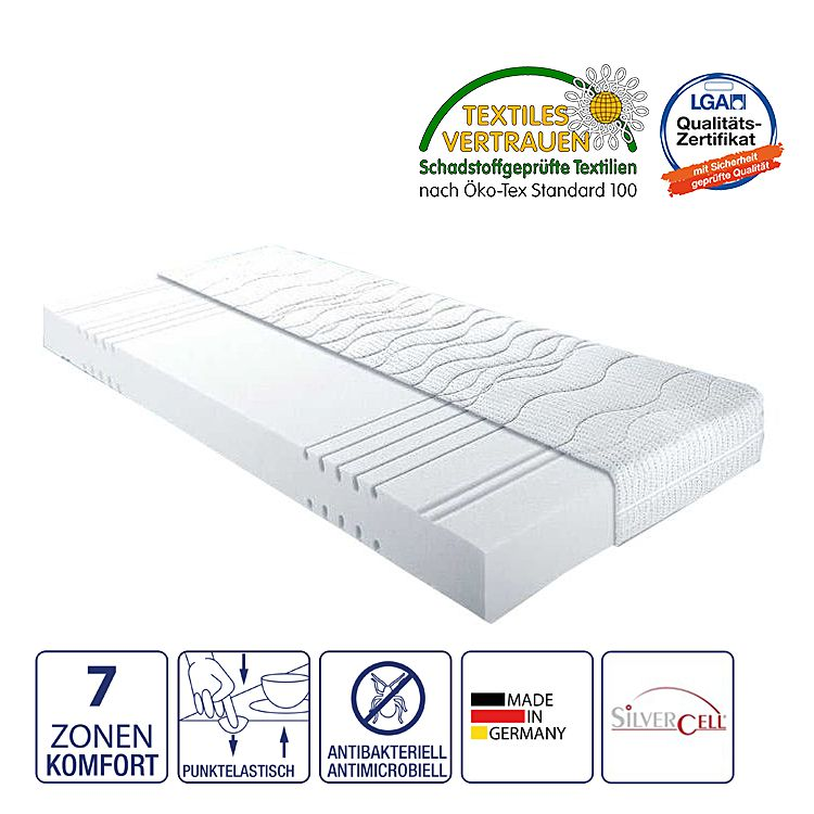 7-Zonen Kaltschaummatratze Aqua I – 90 x 190cm – H2 bis 80 kg, Nova Dream Sleepline günstig bestellen