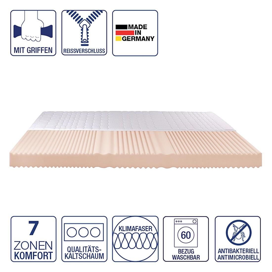 7 zonen kaltschaummatratze luna 80 x 200cm h2 bis 80 kg nova dream sleepline g nstig bestellen. Black Bedroom Furniture Sets. Home Design Ideas