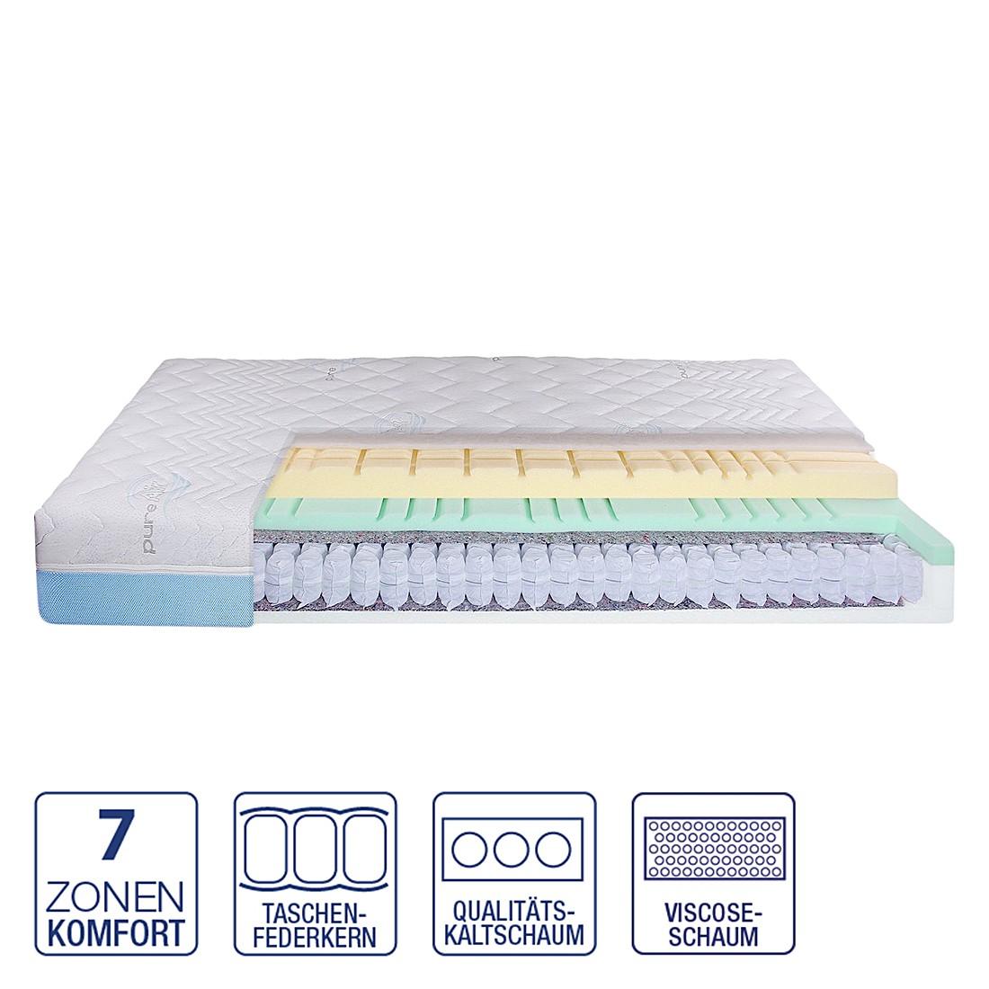 7-Zonen Taschenfederkern-Kaltschaum Viscomatratze Relax – 80 x 200cm – H2 bis 80 kg, Nova Dream Sleepline bestellen