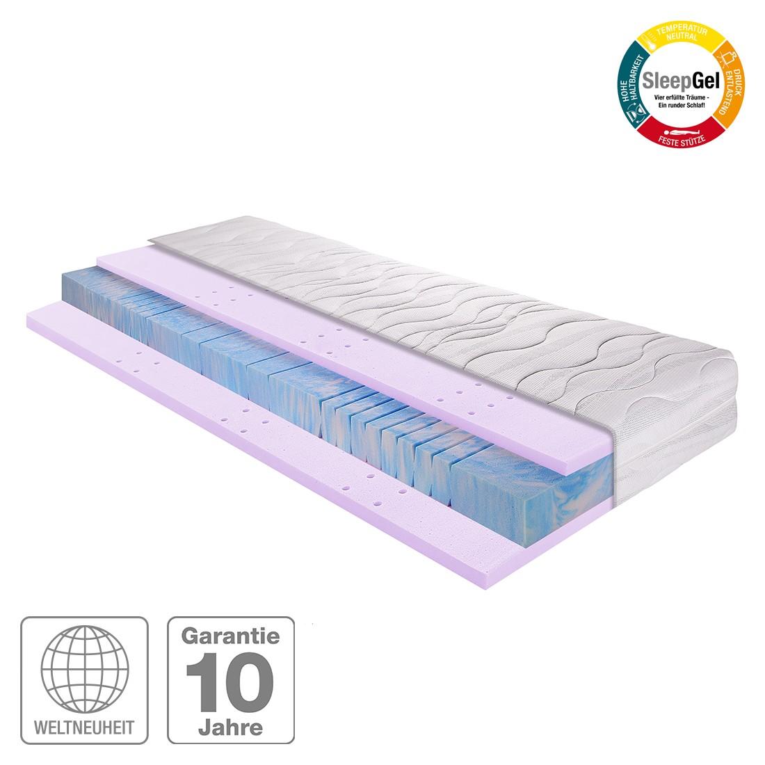 7-Zonen Kaltschaum-Gel-Matratze Sleep Gel 3 – 140 x 200cm – H2 bis 80 kg, Breckle günstig bestellen