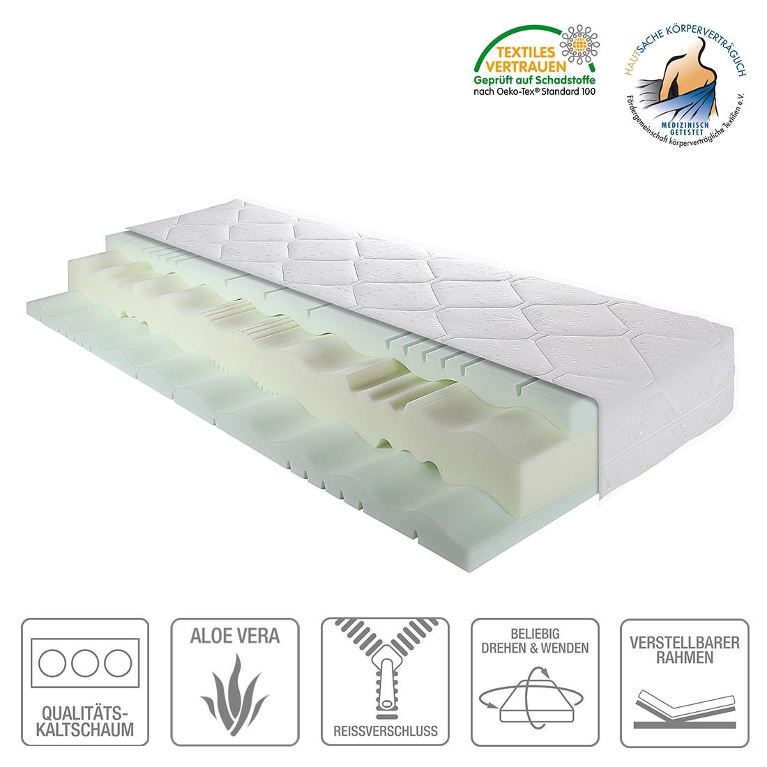 7-Zonen Komfort-Kaltschaummatratze Highline – 90 x 200cm – H2 bis 80 kg, Breckle günstig online kaufen