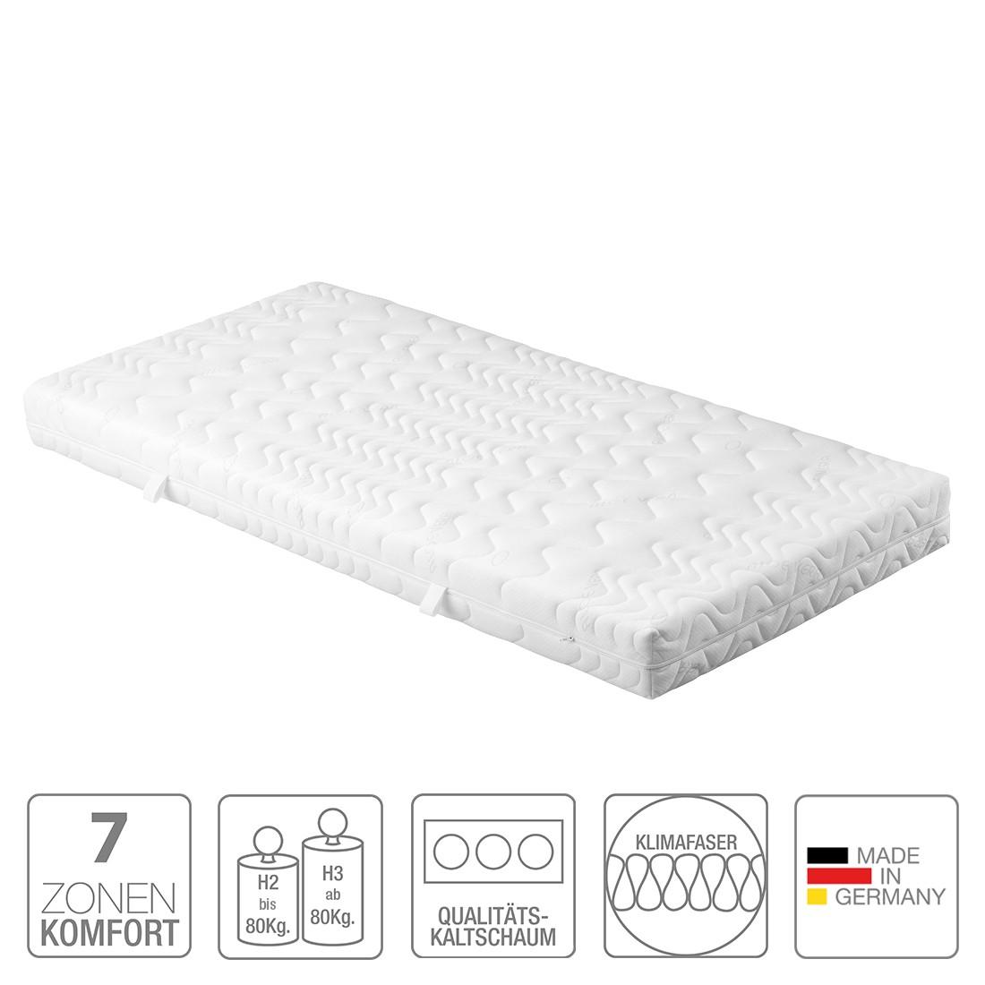 7 zonen kaltschaummatratze seven 90 x 200cm h2 bis 80. Black Bedroom Furniture Sets. Home Design Ideas