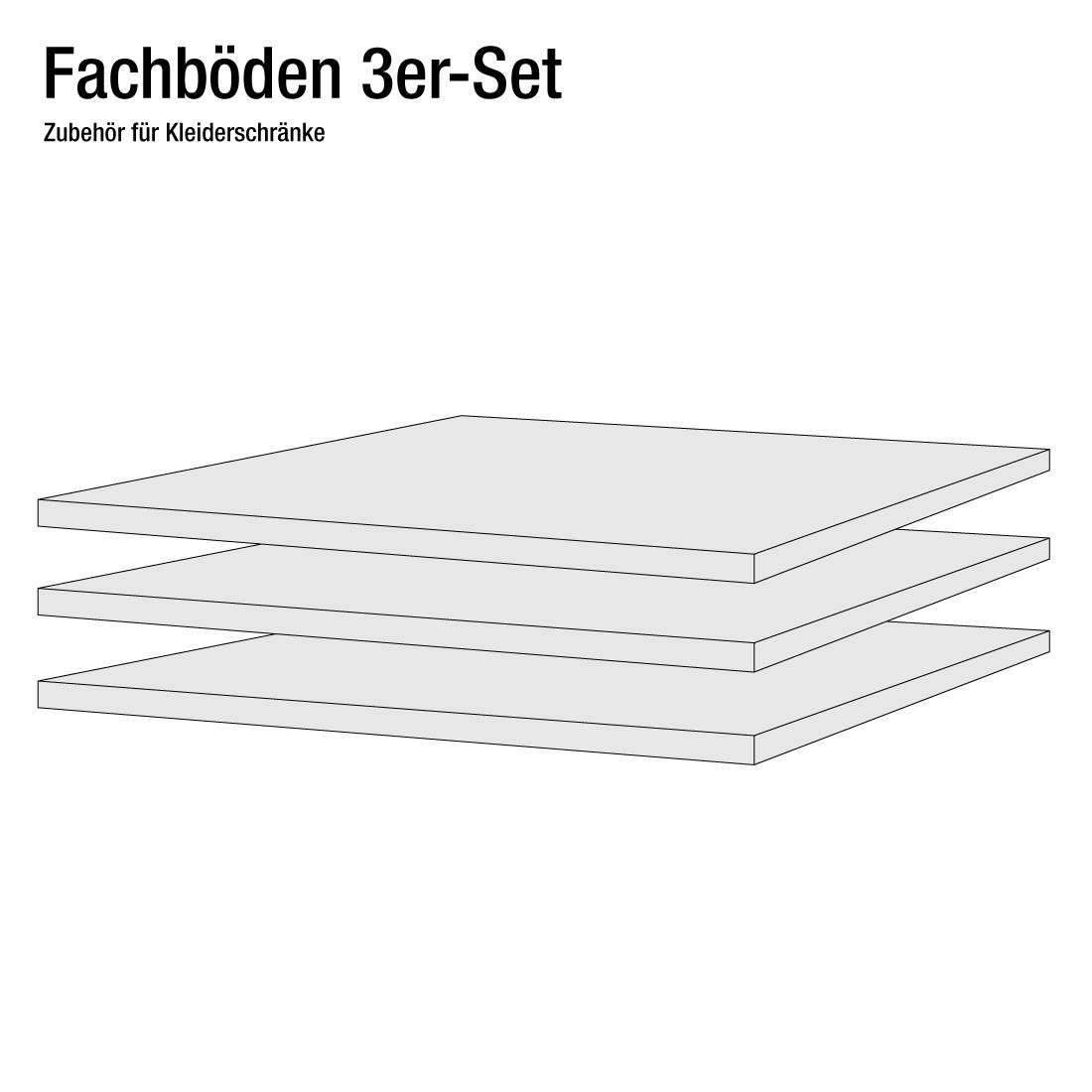 90er Fachboden (3er-Set) - für Schranktiefe 60/69 cm