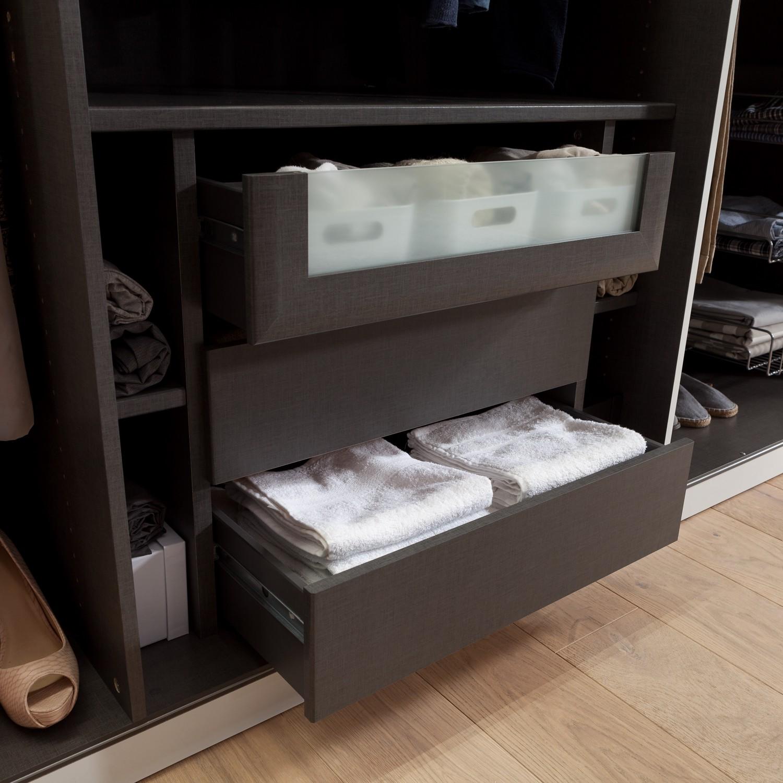 90er schubkasteneinsatz mit glasfront ii kleiderschrank schubladeneinsatz. Black Bedroom Furniture Sets. Home Design Ideas