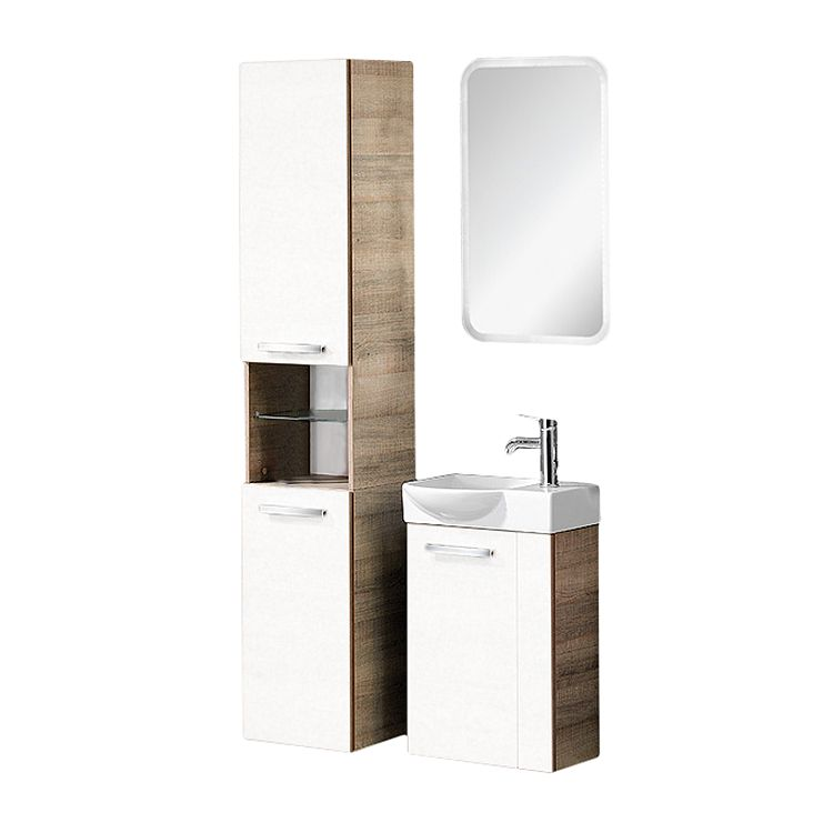 a vero g ste wc set eiche sonoma wei hochglanz. Black Bedroom Furniture Sets. Home Design Ideas