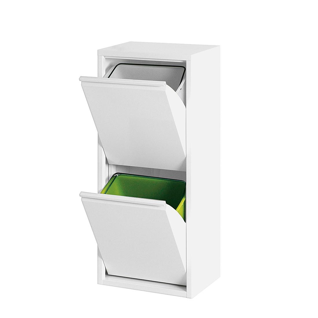 Abfallsortierer Depo – Metall – Weiß, Magazin-Möbel günstig kaufen