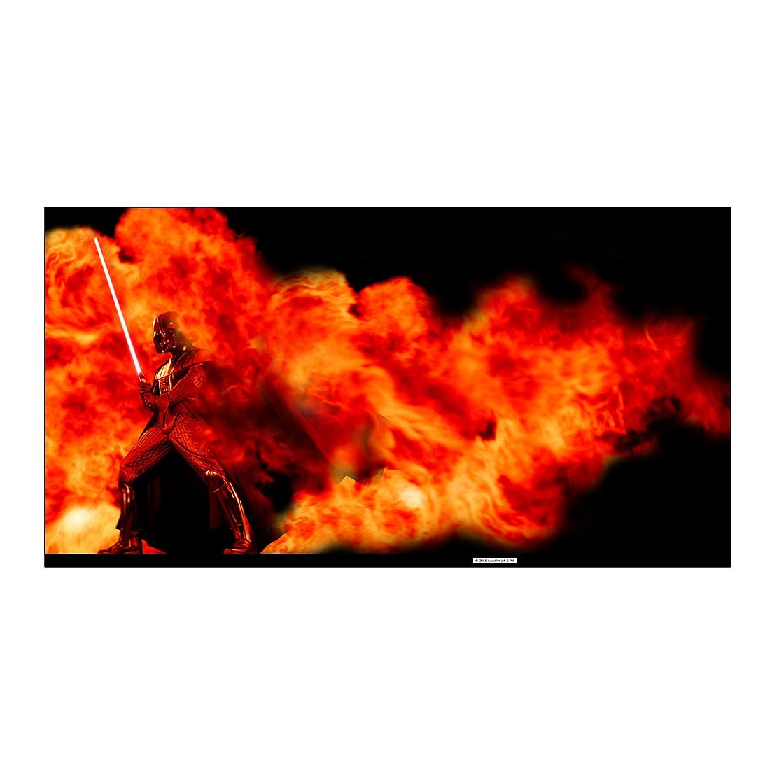 Acryl-Aluminium-Bild Darth Vader Fire Explosion – Abmessung: 100 x 75 cm, Gallery of Innovative Art günstig kaufen
