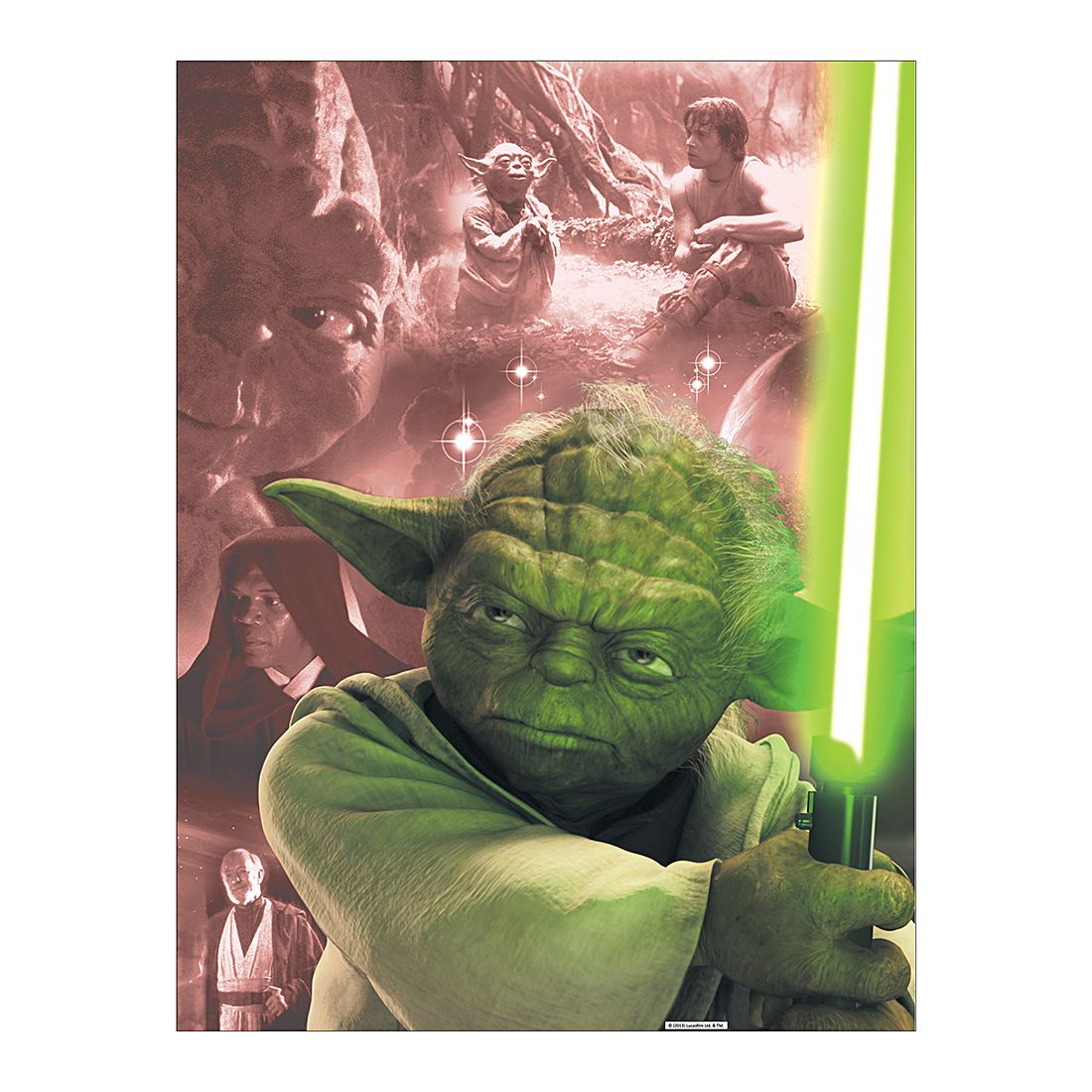 Acryl-Aluminium-Bild Yoda – Abmessung: 100 x 75 cm, Gallery of Innovative Art günstig bestellen