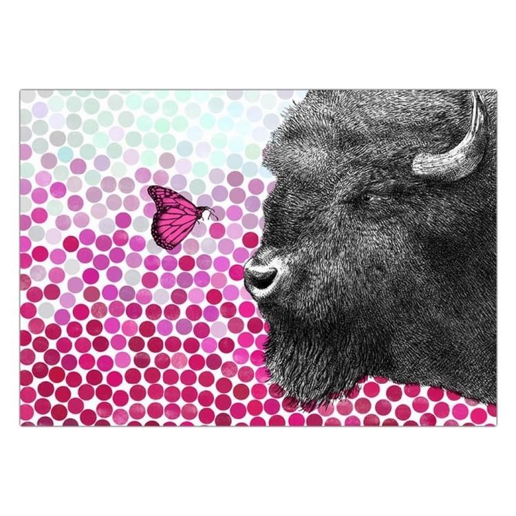 Acrylglasbild Bison and Butterfly von Eric Fan – Größe: A2 (42 x 59 cm), Juniqe jetzt bestellen