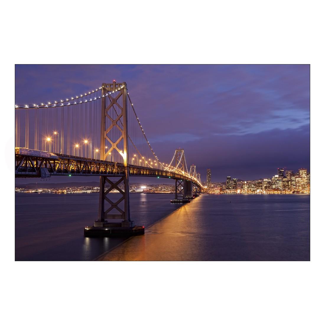 Acrylglasbild Bridge by Night – Abmessung 60×40 cm, Gallery of Innovative Art online kaufen