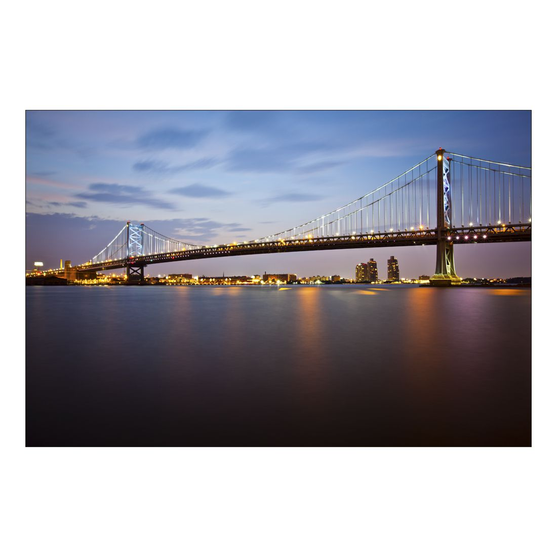 Acrylglasbild Bridge Lights – Abmessung 30×20 cm, Gallery of Innovative Art online kaufen
