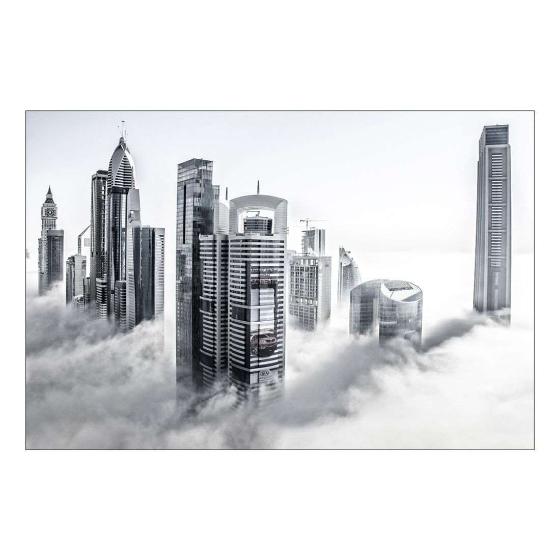 Acrylglasbild Dubai in the Clouds – Abmessung 90×60 cm, Gallery of Innovative Art günstig