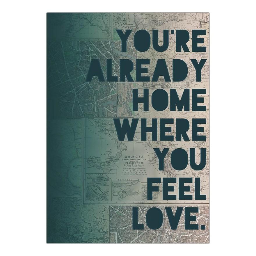 Acrylglasbild Home von Leah Flores – Größe: A3 (42 x 30 cm), Juniqe günstig kaufen