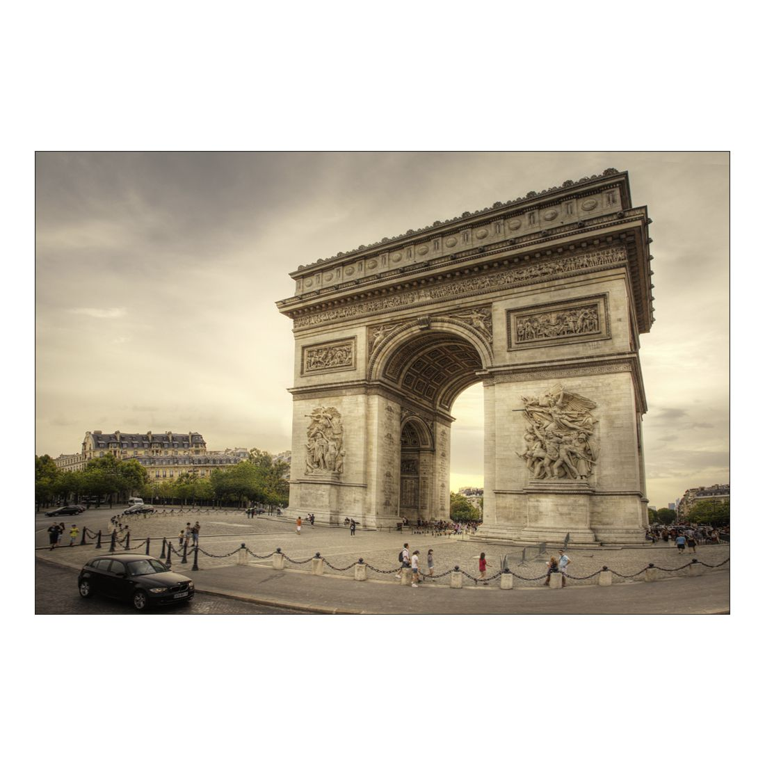 Acrylglasbild L'Arc de Triomphe Paris – Abmessung 75×50 cm, Gallery of Innovative Art online kaufen