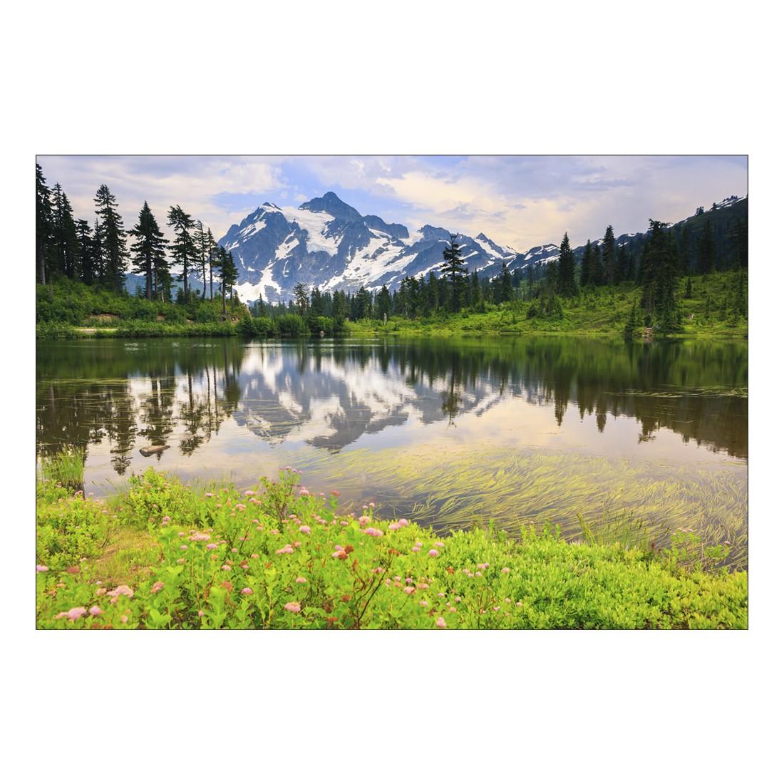 Acrylglasbild Lake and Mountain, 90×60 cm – Abmessung 60×40 cm, Gallery of Innovative Art jetzt kaufen