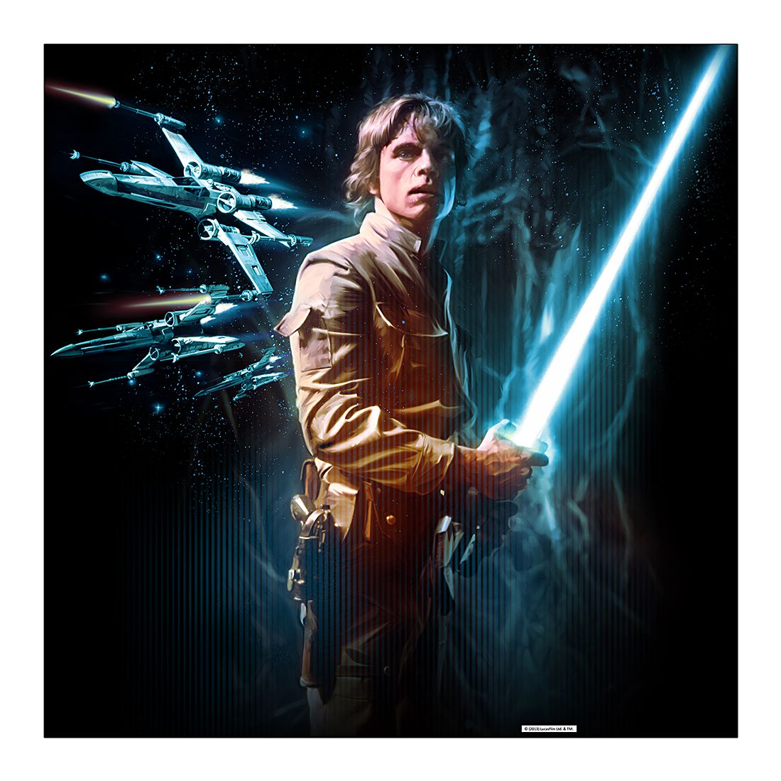Acrylglasbild Luke Skywalker – 80 x 80 cm, Gallery of Innovative Art kaufen