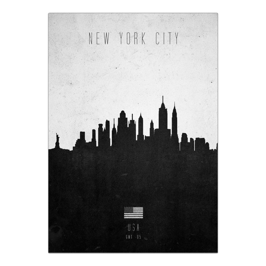 Acrylglasbild New York City Contemporary Cityscape von Calm The Ham – Größe: A4 (30 x 21 cm), Juniqe kaufen