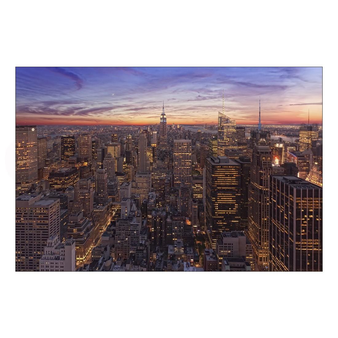 acrylglasbild new york sunset abmessung 30x20 cm gallery of innovative art g nstig bestellen. Black Bedroom Furniture Sets. Home Design Ideas