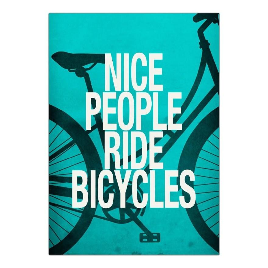 Acrylglasbild Nice people ride bicycles von Danny Ivan – Größe: A3 (42 x 30 cm), Juniqe günstig online kaufen
