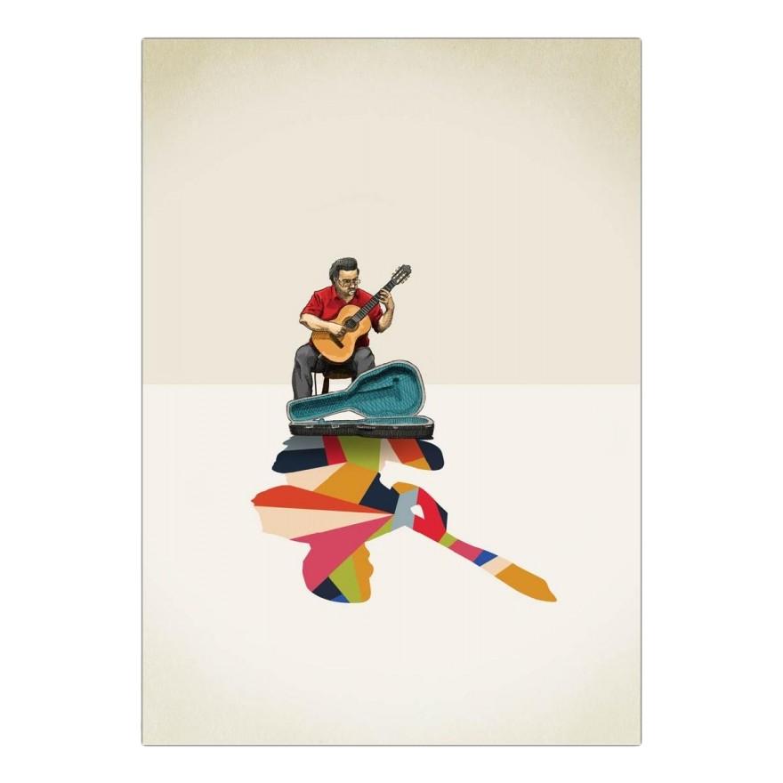 Acrylglasbild Walking Shadow – Guitarist von Jason Ratliff – Größe: A4 (30 x 21 cm), Juniqe günstig online kaufen