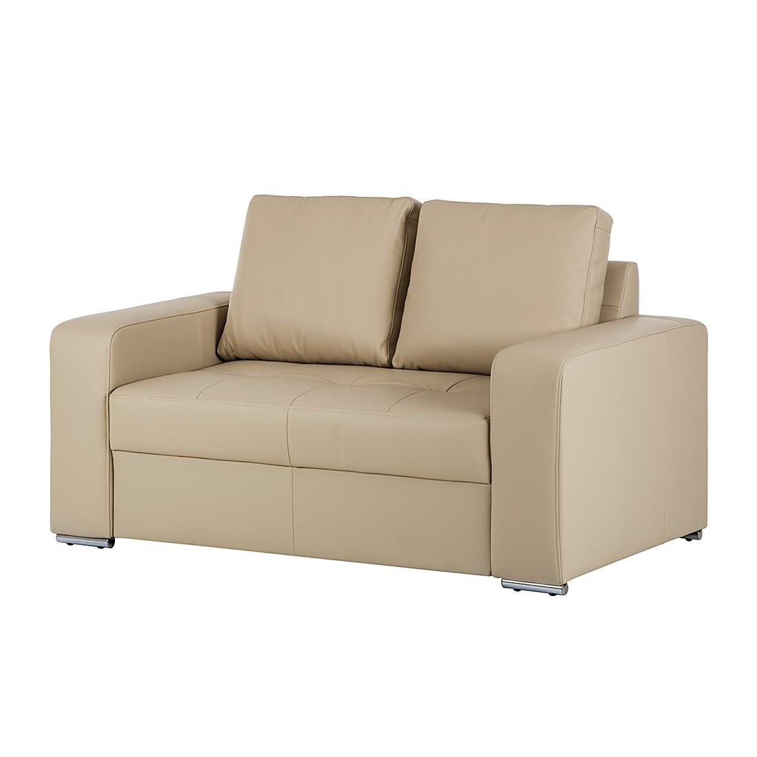 Sofa Giglio (2-Sitzer) – Echtleder Beige, Nuovoform günstig online kaufen