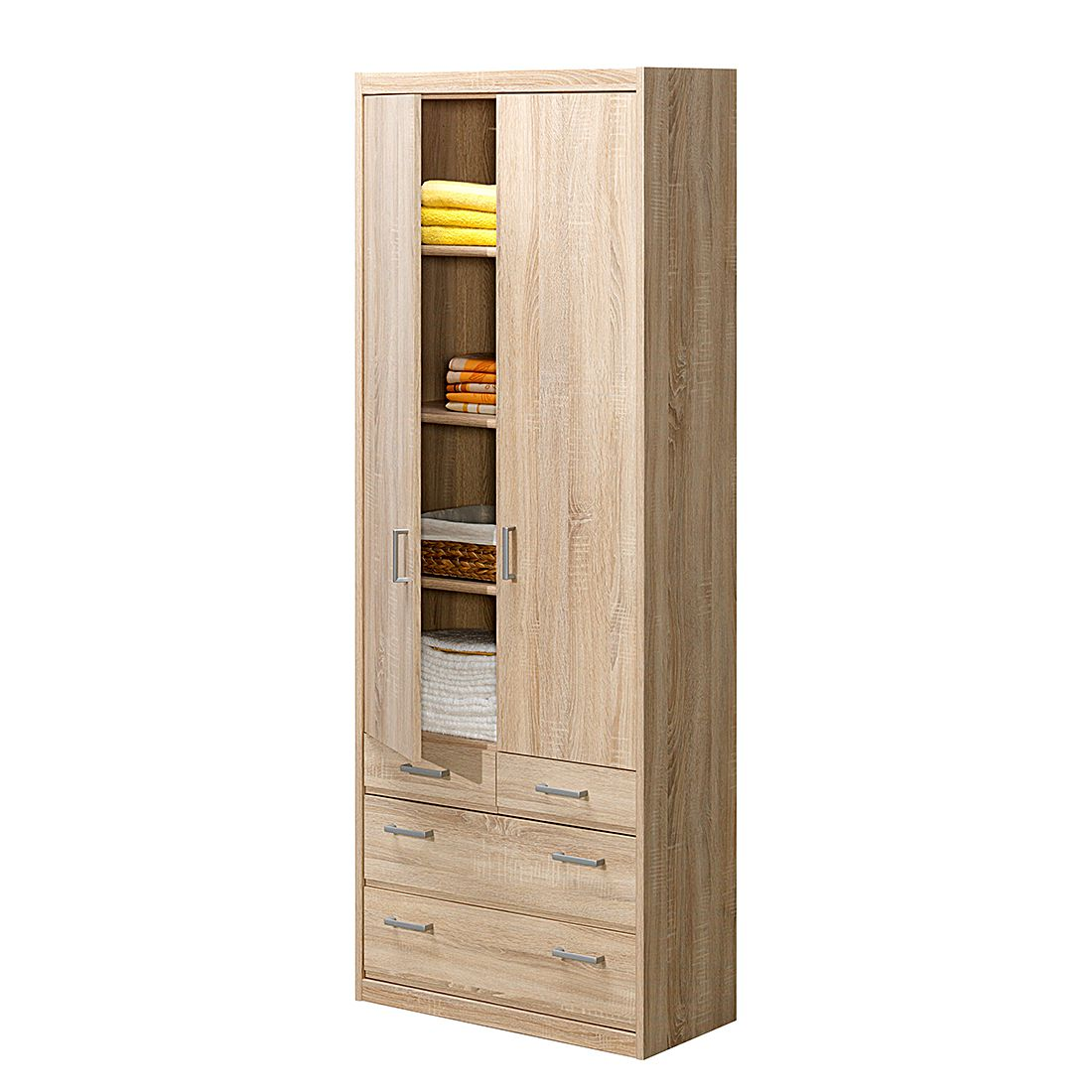 mehrzweckschrank soft plus ii eiche dekor. Black Bedroom Furniture Sets. Home Design Ideas