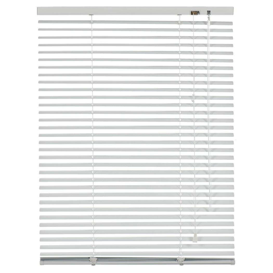Alu Jalousie Vancouver (Breite 200-300 cm) – verdunkelnd – Weiß – Breite: 220 cm Höhe: 250 cm, Sandega online kaufen