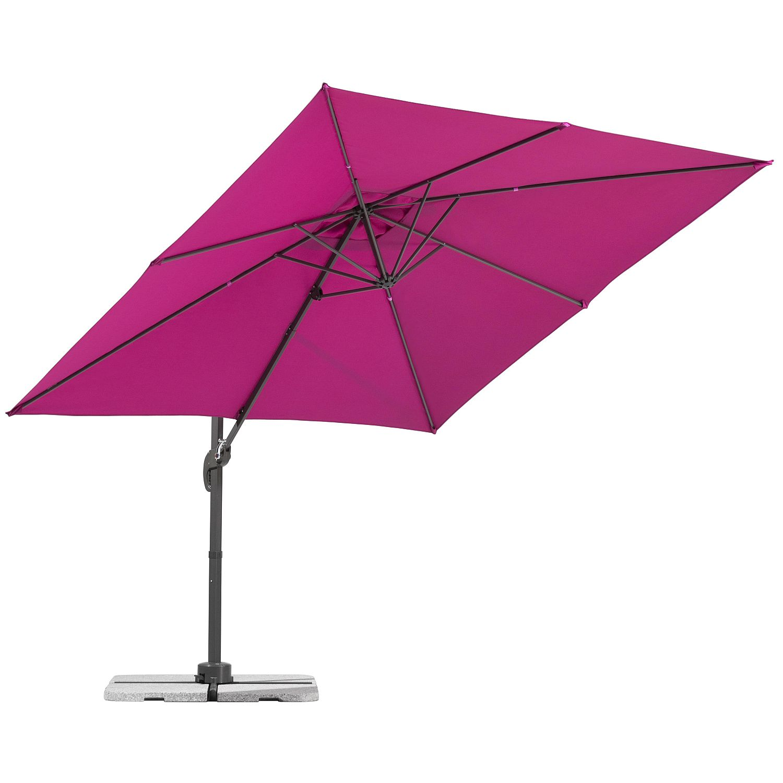 Ampelschirm Rhodos Junior - Webstoff - Pink, Schneider Schirme