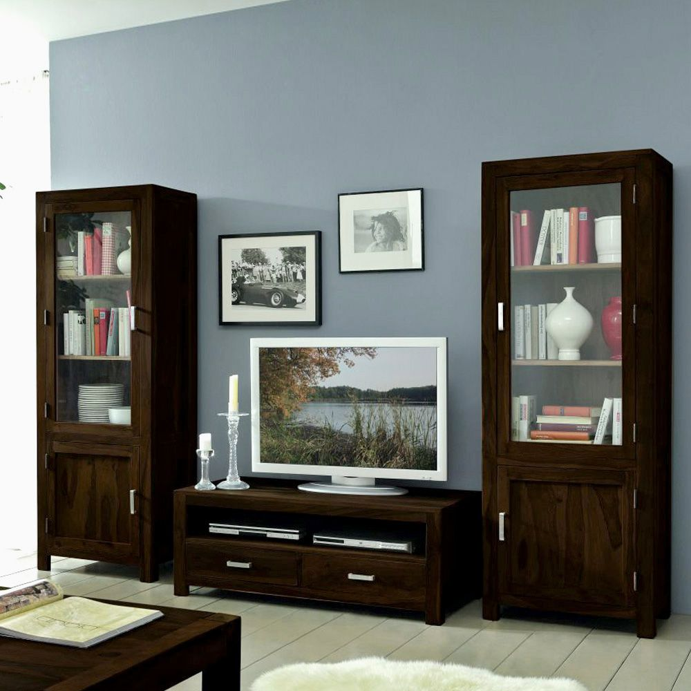 kommode woodny sheesham massivholz dunkelbraun gebeizt. Black Bedroom Furniture Sets. Home Design Ideas