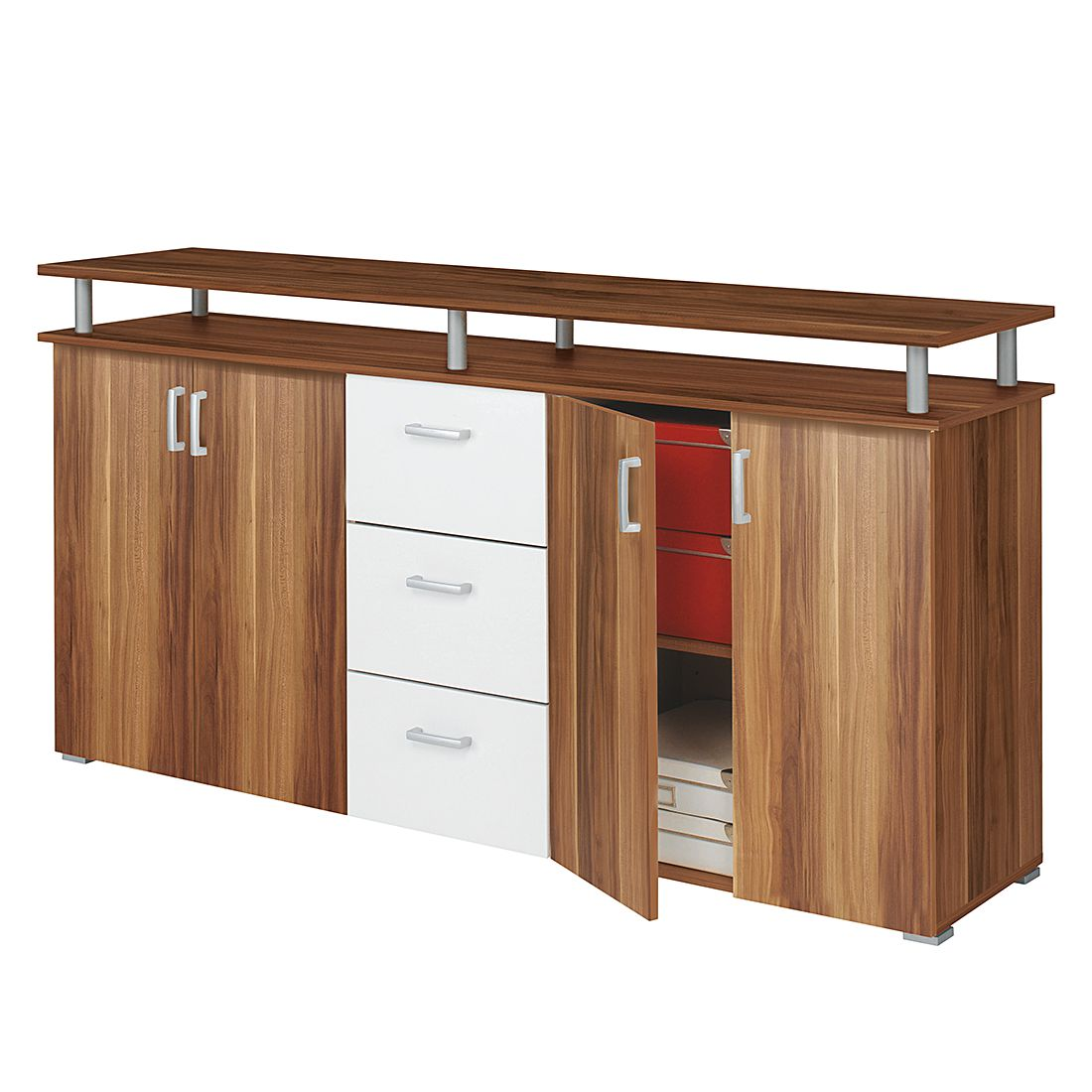 sideboard lara merano dekor wei mooved g nstig. Black Bedroom Furniture Sets. Home Design Ideas
