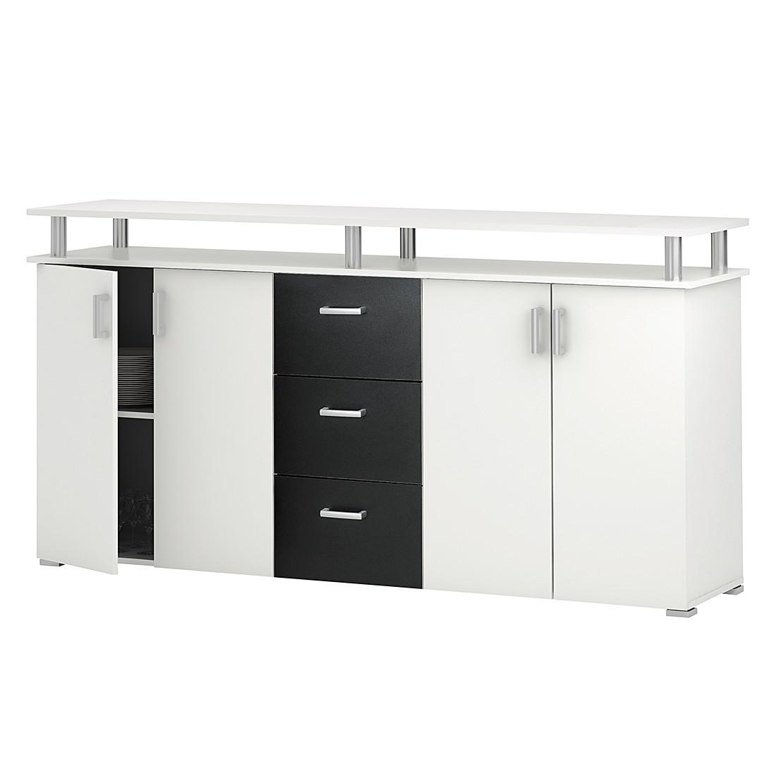 roller sideboard swiffer wei schwarz. Black Bedroom Furniture Sets. Home Design Ideas