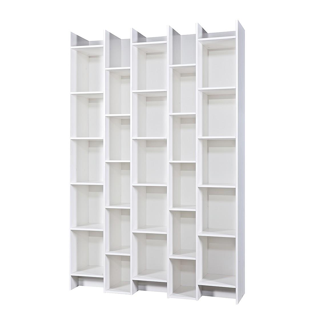 Anstellregal Expand – Pinie massiv – Weiß, Woood günstig