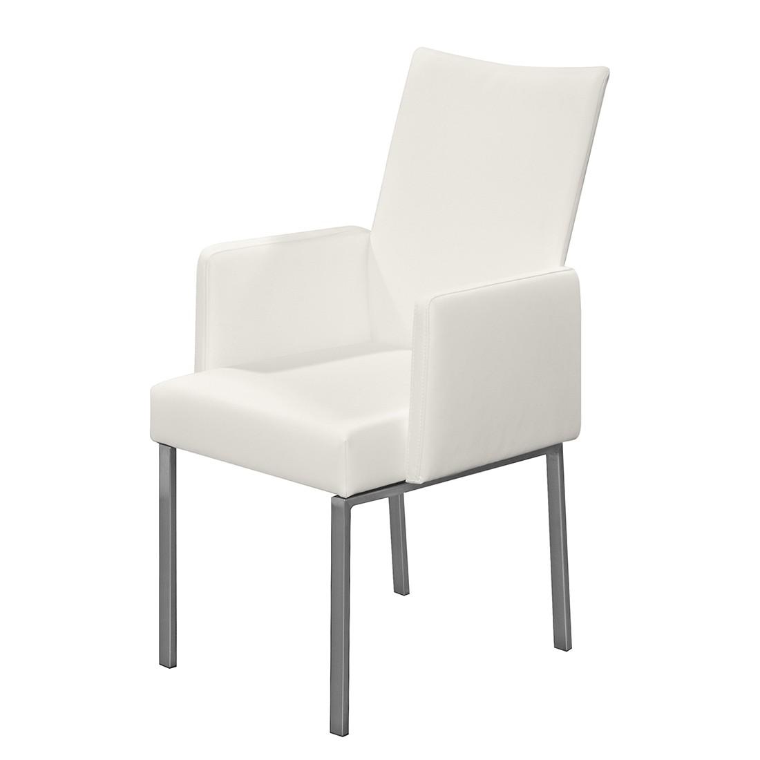 Armlehnenstuhl Set – Echtleder Weiß, Arte M günstig