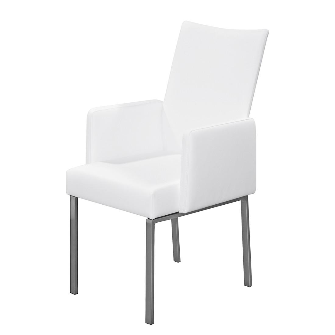 Armlehnenstuhl Set – Kunstleder Weiß, Arte M günstig