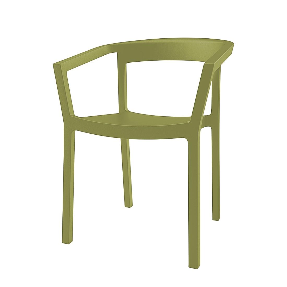 Armlehnenstuhl Peach (2er Set) Kunststoff – Olivgrün, Blanke Design online bestellen