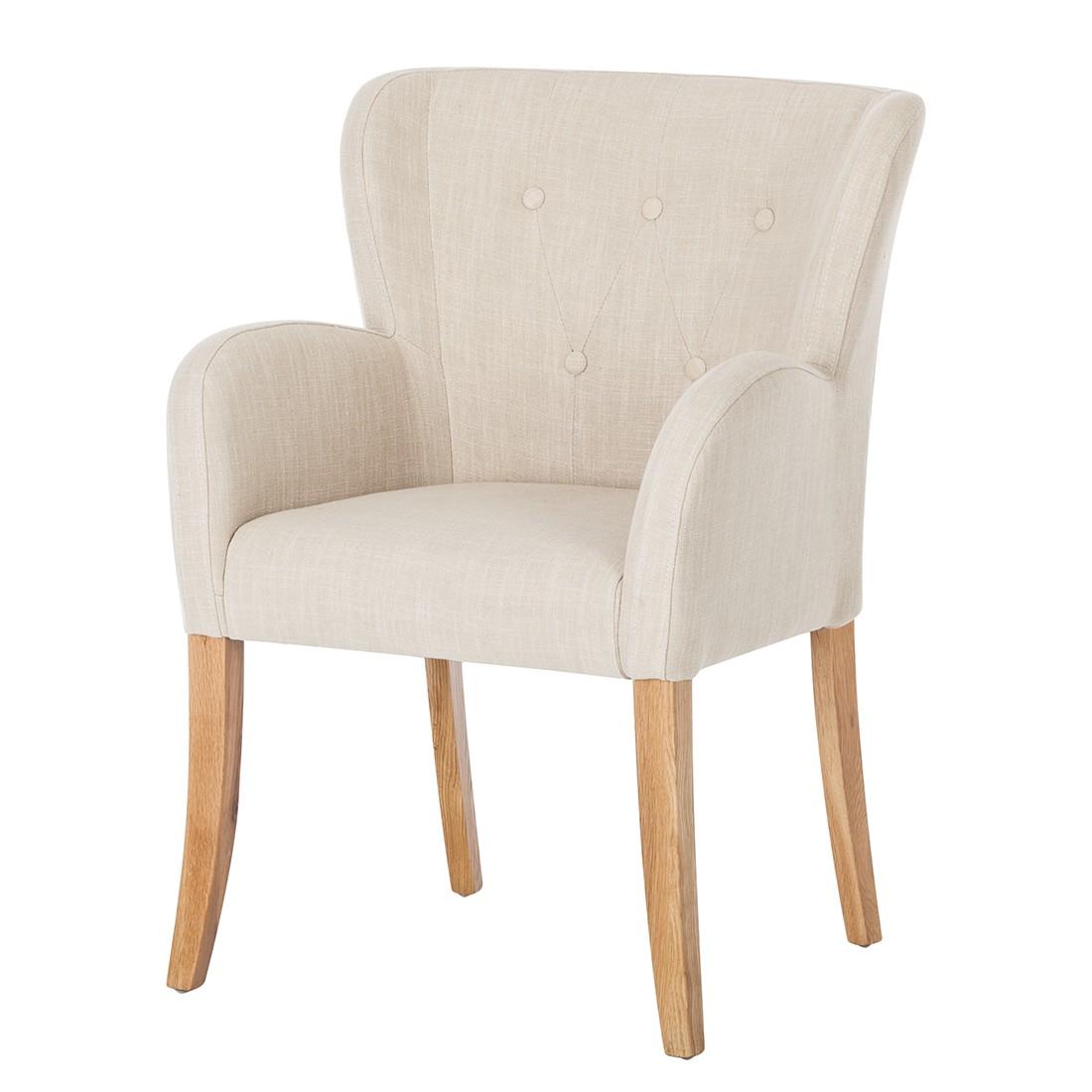 armlehnstuhl bakersfield webstoff beige ebay. Black Bedroom Furniture Sets. Home Design Ideas