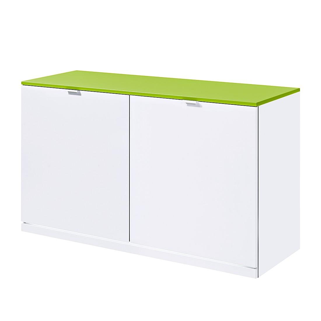 sideboard vip ii wei gr n mit led beleuchtung. Black Bedroom Furniture Sets. Home Design Ideas