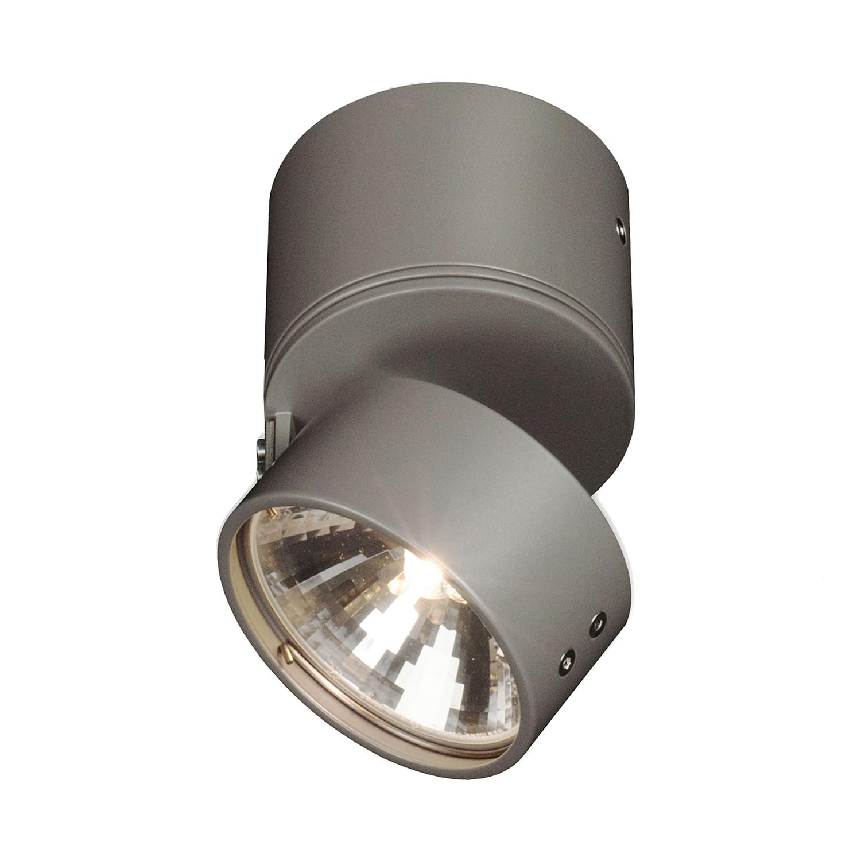 Aufbaustrahler Wittenberg ● Aluminium- pulverbeschichtet ● Graumetallic- Mawa Design