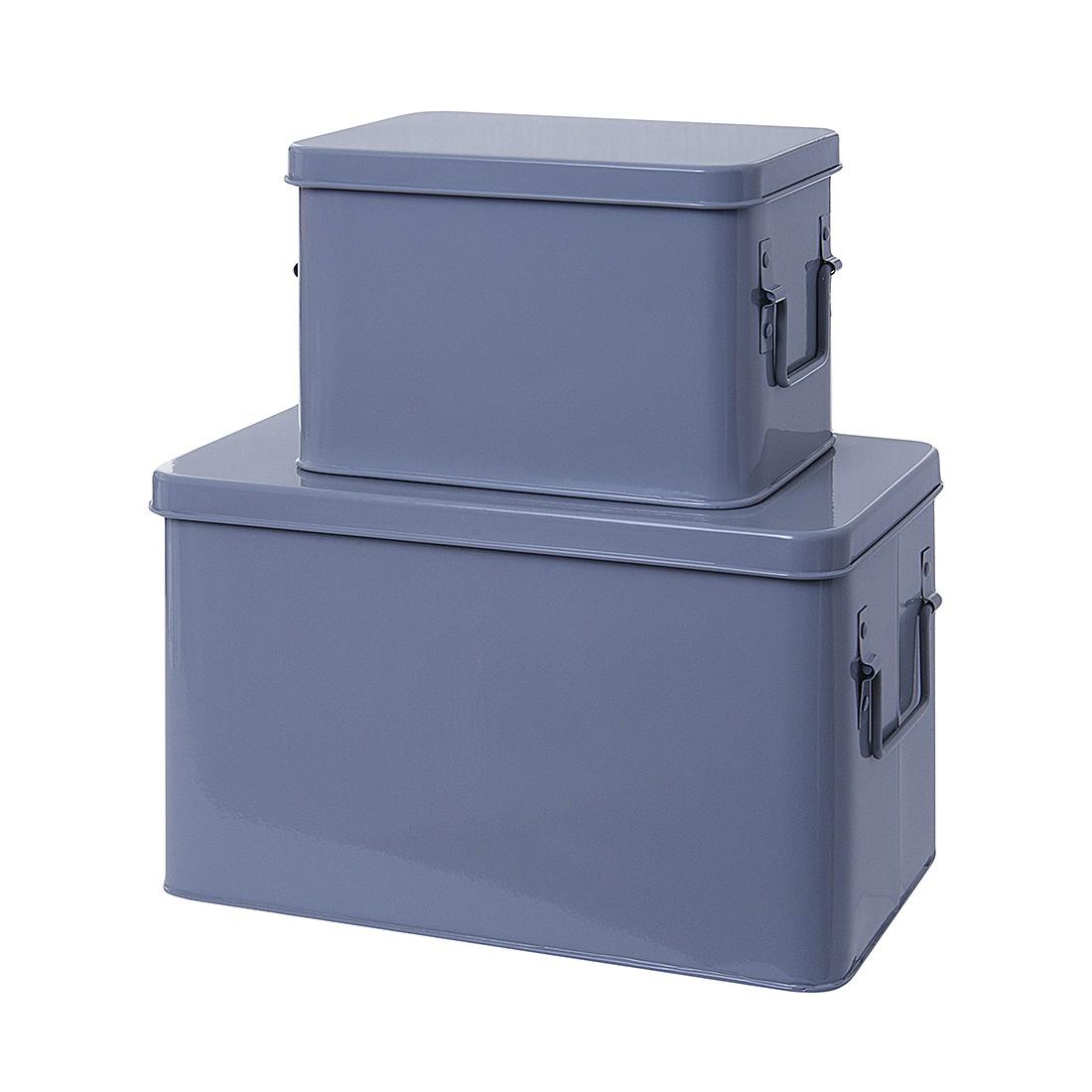 Aufbewahrungsboxen – Metall Mausgrau, Present Time jetzt kaufen
