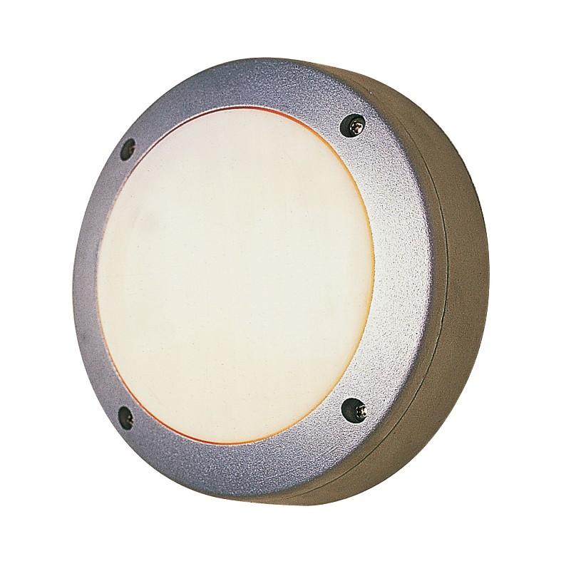 EEK A++, Außen-Decken-Wandleuchte Ø15cm 1-flammig - Grau Aluminium, Näve